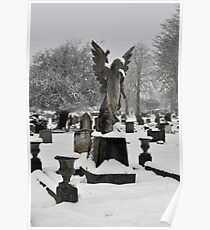 Angel in the Snow ~ St Albans, Hertfordshire, 2013 Poster