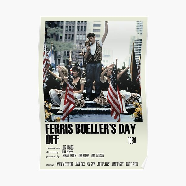 Ferris Bueller's Day Off Alternative Poster Art Movie Large (1) Poster