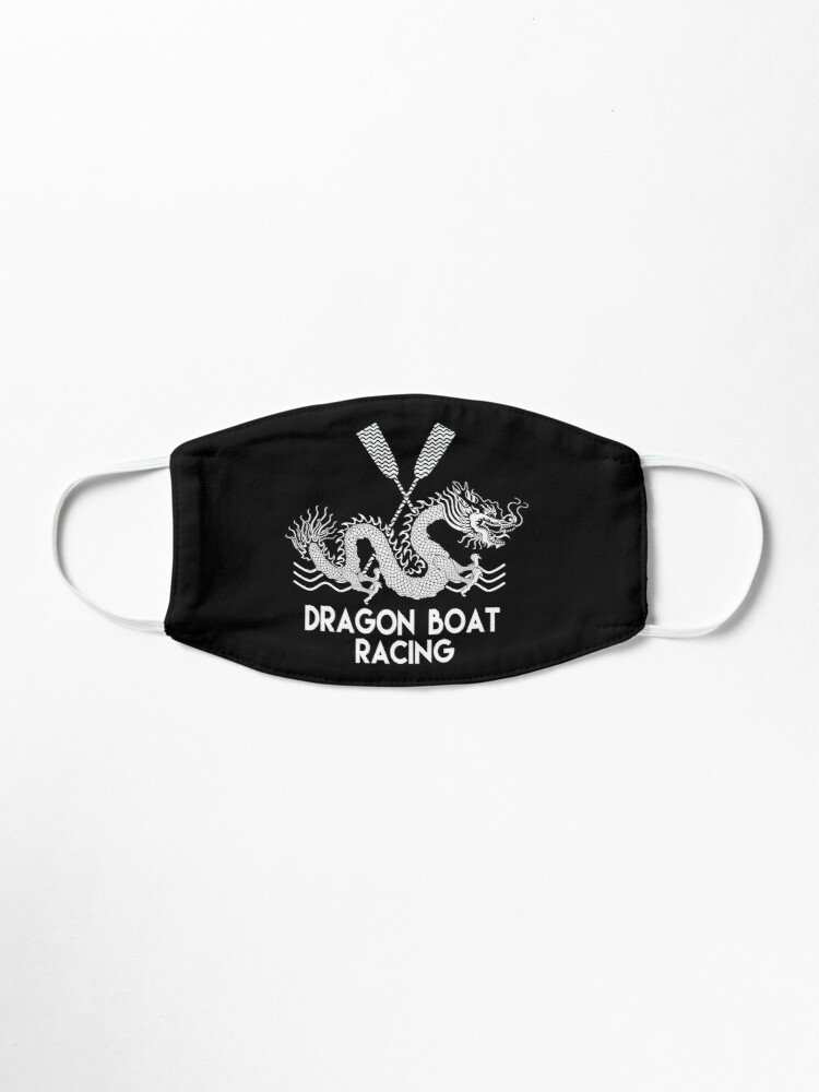 Alternate view of Black White Dragon Boat Racing Mask