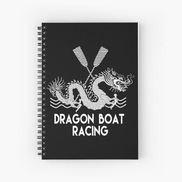 Black White Dragon Boat Racing Spiral Notebook