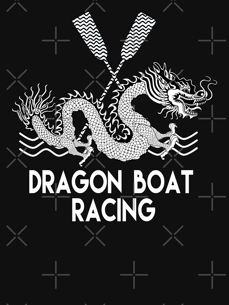 Black White Dragon Boat Racing by 99stars