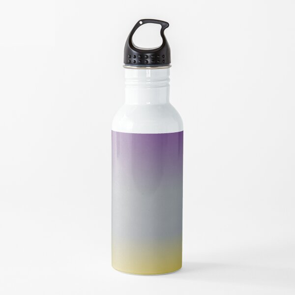 Purple, Grey, and Yellow Gradient  Water Bottle