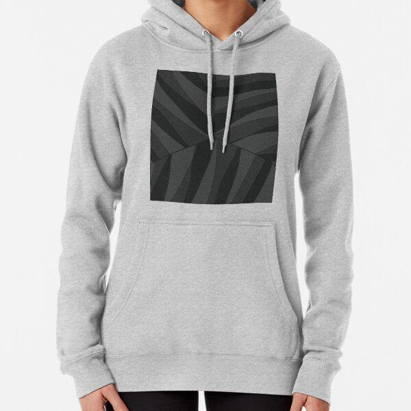 Black Strips Pattern Pullover Hoodie