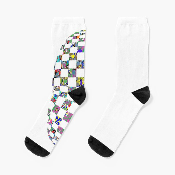 Checkered thrasher phone case - пестрый, motley, variegated, mottled, pied, checkered, patchwork, разноцветный Socks