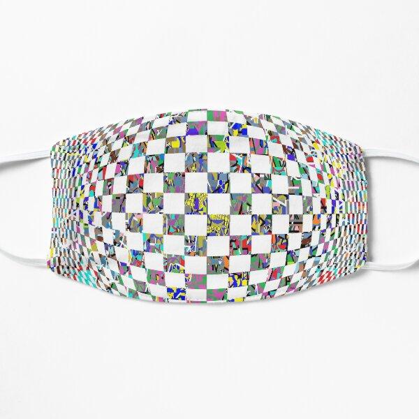 Op art whirlpool - пестрый, motley, variegated, mottled, pied, checkered, patchwork, разноцветный Flat Mask