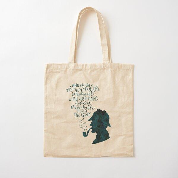 Sherlock Holmes Quote Cotton Tote Bag