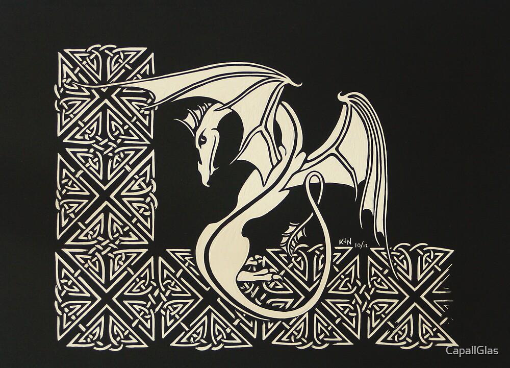 Coy Celtic Dragon by CapallGlas