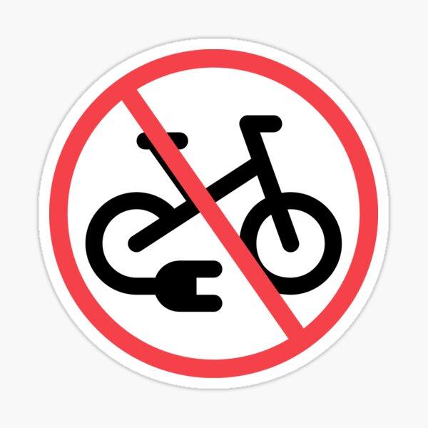 E-bikes not allowed Sticker