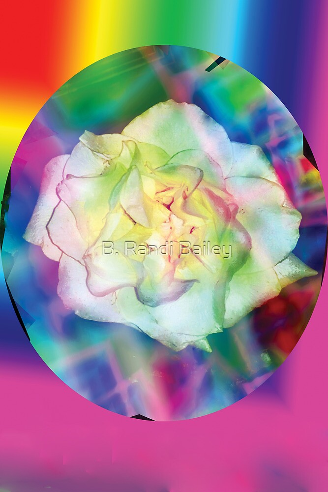 Rainbow rose and red accents by ♥⊱ B. Randi Bailey