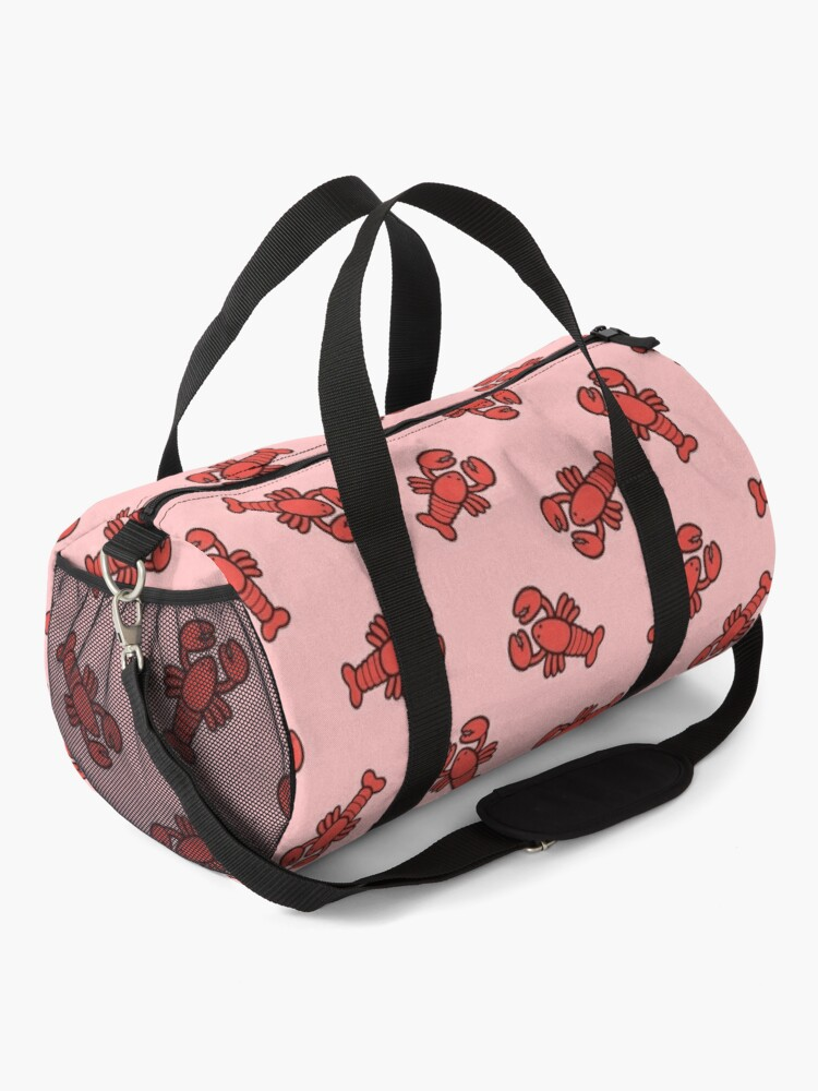 Alternate view of Lobsters Pattern on Light Pink Duffle Bag