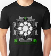 GLITCH.FM OFFICIAL ORGANIC BENEFIT MERCH LOTUS MANDALA 11 QR Unisex T-Shirt