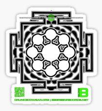 GLITCH.FM OFFICIAL ORGANIC BENEFIT MERCH LOTUS MANDALA 11 QR Sticker