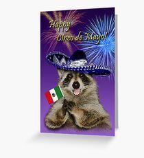Cinco de Mayo Raccoon Greeting Card