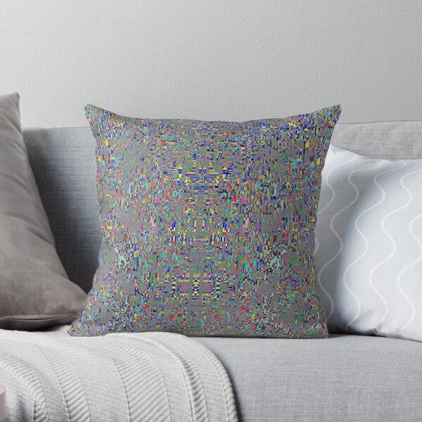 пестрый, motley, variegated, mottled, pied, checkered, patchwork, разноцветный Throw Pillow