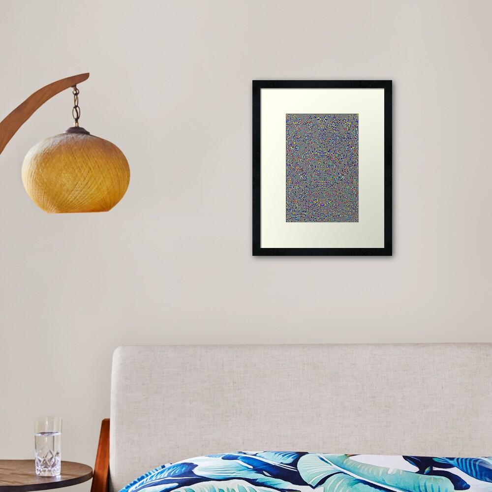 пестрый, motley, variegated, mottled, pied, checkered, patchwork, разноцветный Framed Art Print