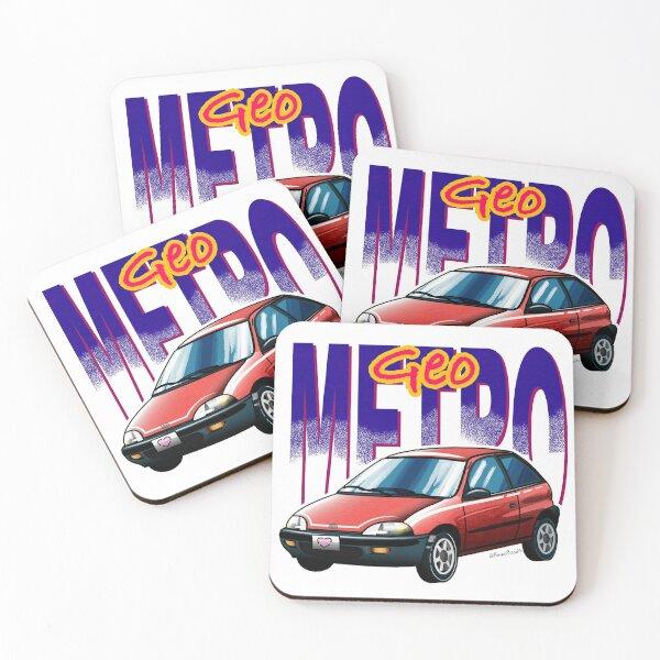 Geo Metro (Chevrolet Metro) Coasters (Set of 4)