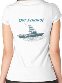 Out Fishing Women's Fitted Scoop T-Shirt