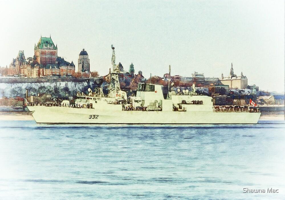 HMCS Ville De Quebec by Shawna Mac