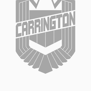 Custom Dredd Badge Shirt - Grey - (Carrington) by CallsignShirts