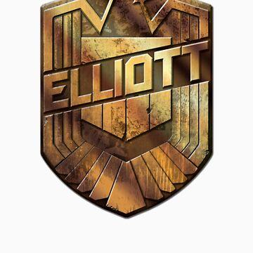 Custom Dredd Badge Shirt - (Elliott) by CallsignShirts
