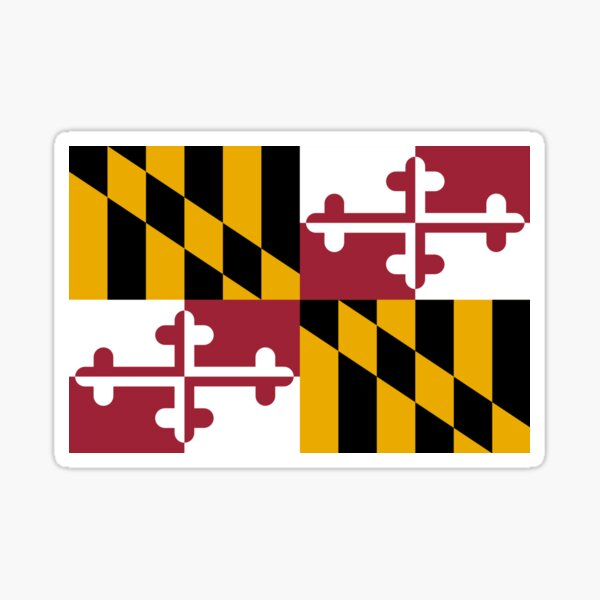 Maryland Flag Collection Sticker