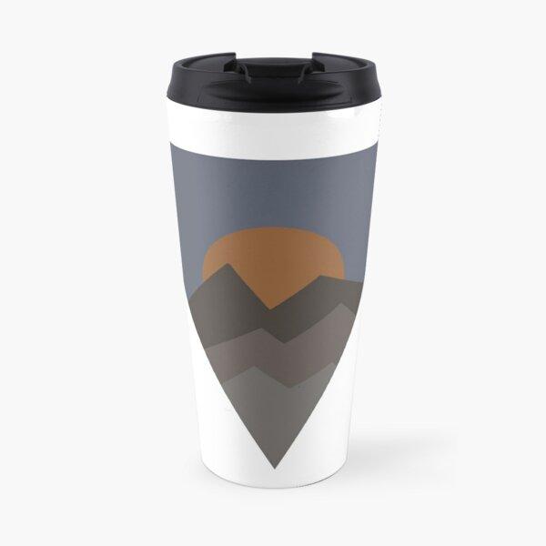 Mountain and Sun Triangle Travel Mug
