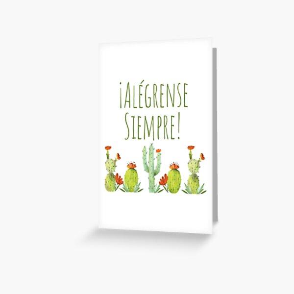 Alégrense Siempre! Cactii - Always Rejoice 2020 Greeting Card