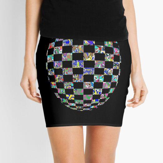Visual arts - пестрый, motley, variegated, mottled, pied, checkered, patchwork, разноцветный Mini Skirt