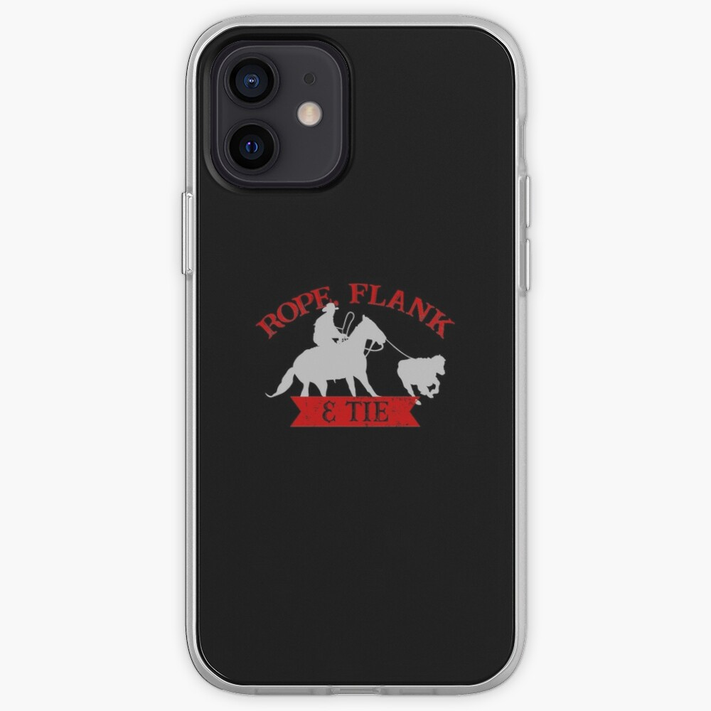 Rope, Flank & Tie Calf Roping Tie-Down Roping iPhone Case & Cover