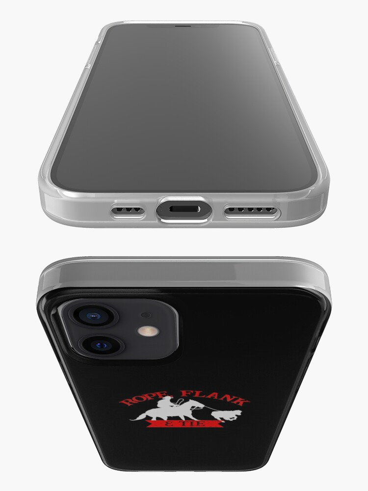 Alternate view of Rope, Flank & Tie Calf Roping Tie-Down Roping iPhone Case & Cover