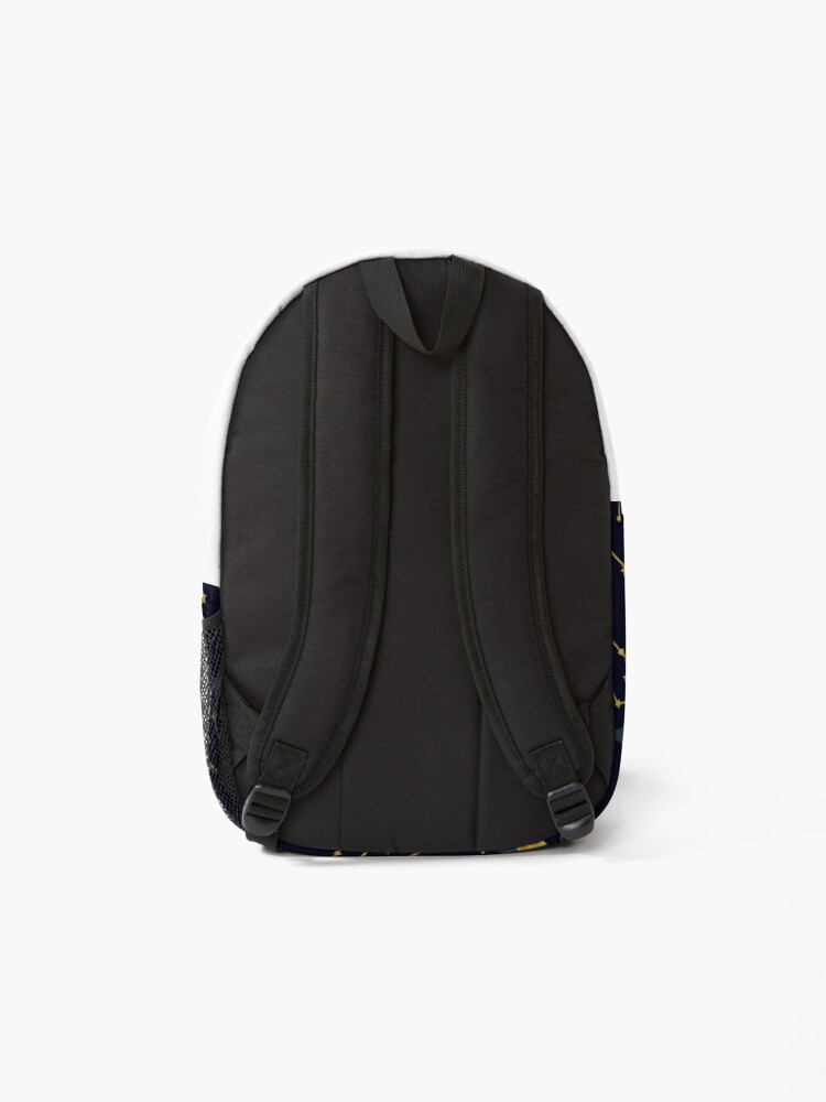 Alternate view of Celestial Stars and Moons in Gold and Dark Blue Backpack