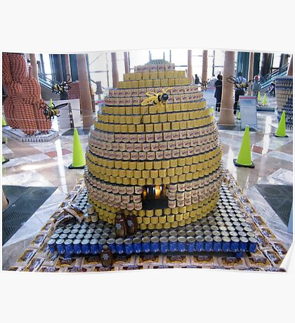 Canstruction, Beehive Made of Cans , Winter Garden, World Financial Center, New York City  Poster