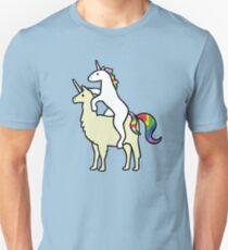 Einhorn Reit Llamacorn Slim Fit T-Shirt