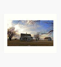 Old Prairie Homestead Art Print