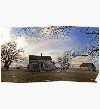 Old Prairie Homestead Poster