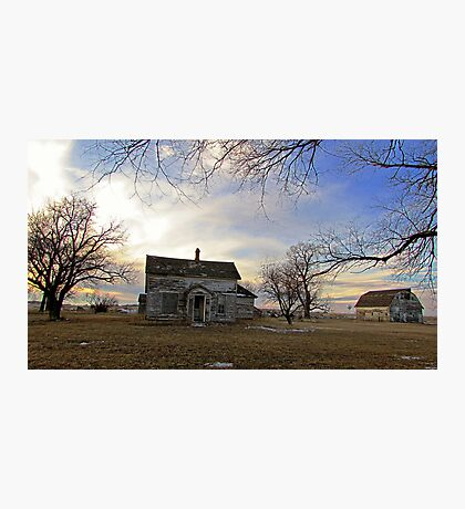 Old Prairie Homestead Photographic Print