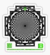 OFFICIAL ORGANIC BENEFIT MERCH LOTUS SAHASRARA NMANDALA 11 QR Sticker