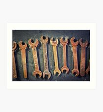 rusty wrenches Art Print