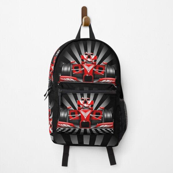 Formula 1 Red Race Car Backpack