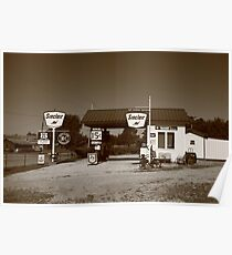 Route 66 Gas Station Poster