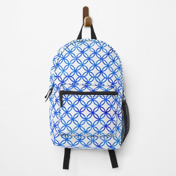 Blue Graphic Circles Backpack
