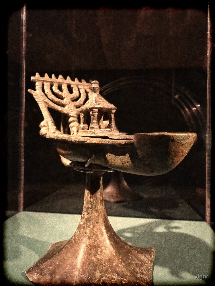 Hebrew Menorah for Hannukah by vigor