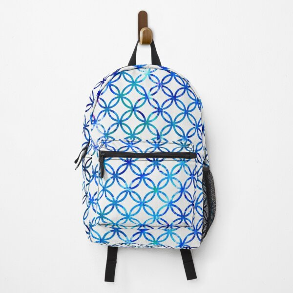 Graphic Blue Circles Backpack