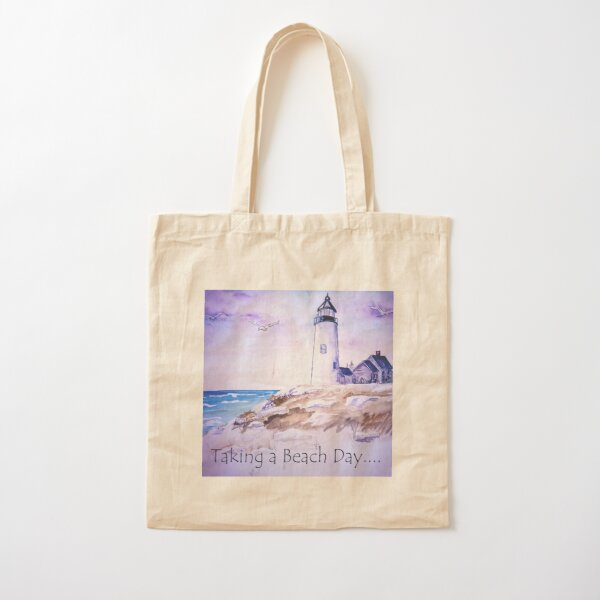 Lighthouse Cotton Tote Bag
