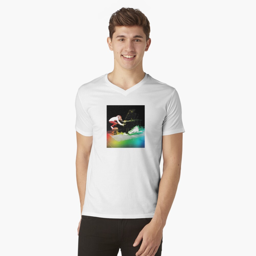 Tim Minchin Technicolor V-Neck T-Shirt