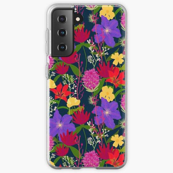 BTS Birth Flower Half-Drop Pattern Samsung Galaxy Soft Case