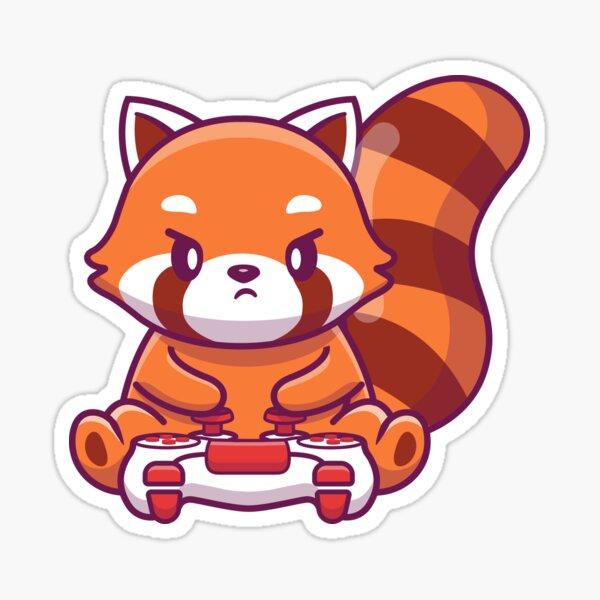 Gaming Red Panda Sticker