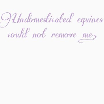 Undomesticated Equines 3 Light Purple by CaelisMiran