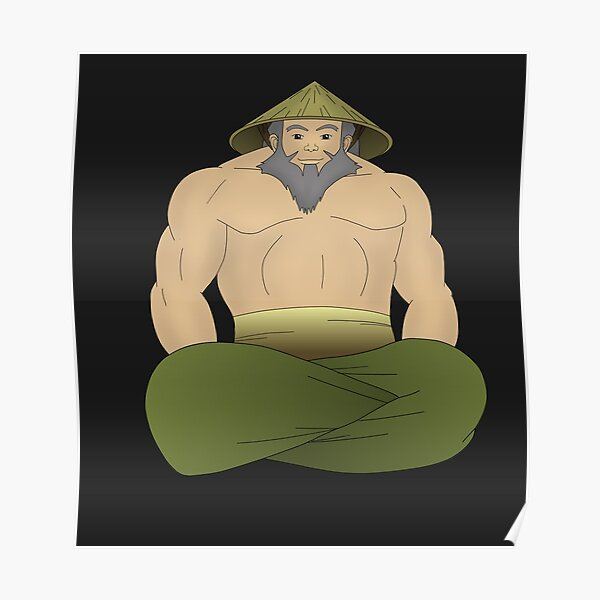 Buff Uncle Iroh Poster