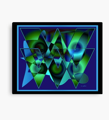 Bluetriangles Canvas Print
